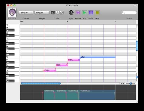 歌声合成ツールUTAUのMac版「UTAU-Synth」
