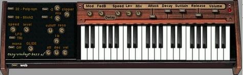 フリーのベースシンセ「easy-vintage bass 01」