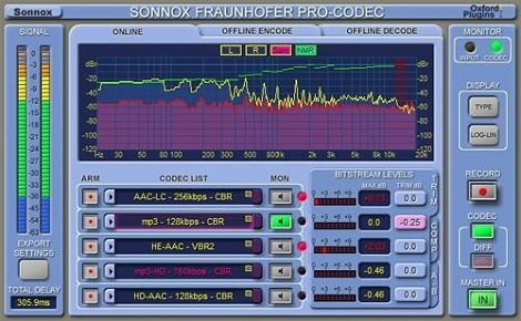 Sonnoxから再生音をリアルタイムでエンコード/デコード処理できる「Fraunhofer Pro-Codec」がリリース