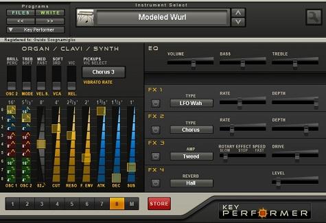 GSiのソフトシンセ「Key Performer」