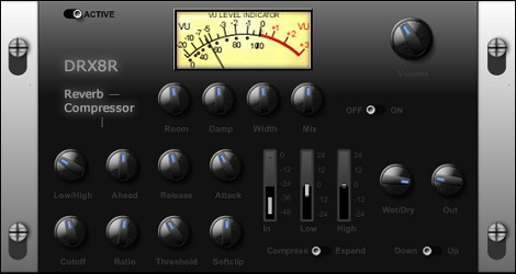 7AIRのフリーのコンプレッサー・リバーブエフェクト「DRX8R」