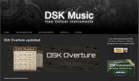 色々なフリーのVSTシンセを配布しているDSK Music