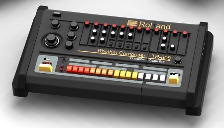 ローランドのリズムマシンTR-808デザインなUSBメモリ