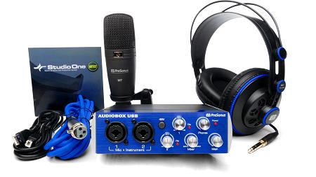 レコーディング&プロダクションに必要な機材とソフトがセットになったPreSonus「AudioBox Studio」