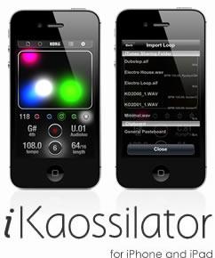 KORG iKaossilator for iPhone/iPadがバージョン2.1となり機能がパワーアップ!