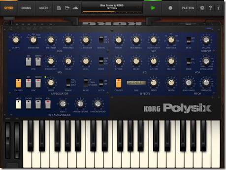 KORGのアナログシンセの名機「Polysix」がiPadアプリでリリース!