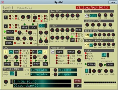 ソフトシンセ「Synth1」がついに64bit&MacのAudio Unitsにも対応!